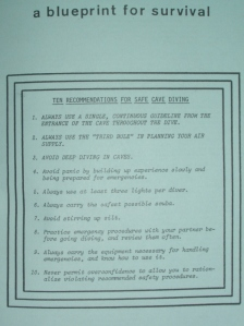 The original 10 recommendations for safe cave diving.