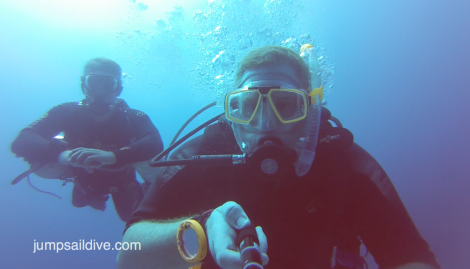 Sidemount diving on the Um El-Faroud