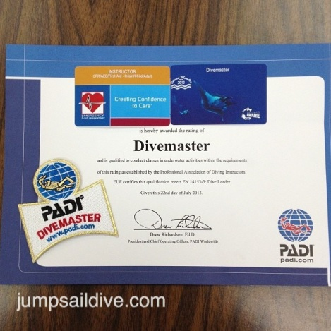 Divemaster and EFRI Certification Cards