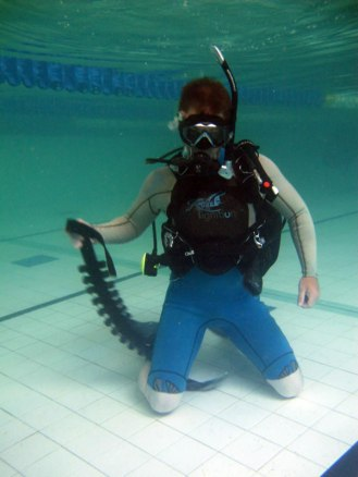 Underwater weight removal