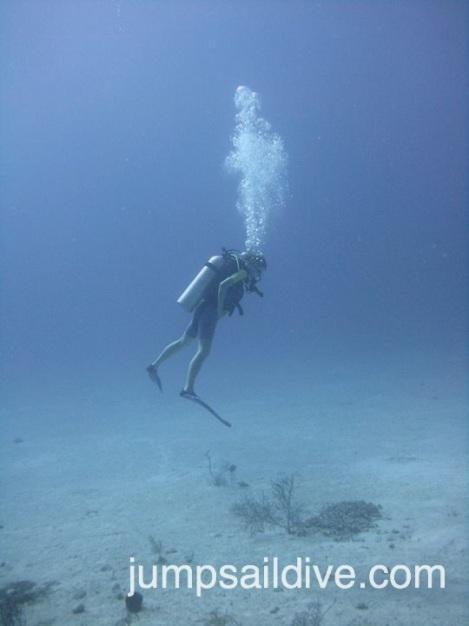Sharleen demonstrating her buoyancy skills
