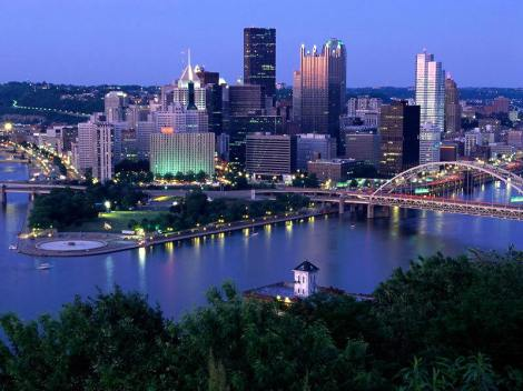 Pittsburgh at night - I hope it is this pretty