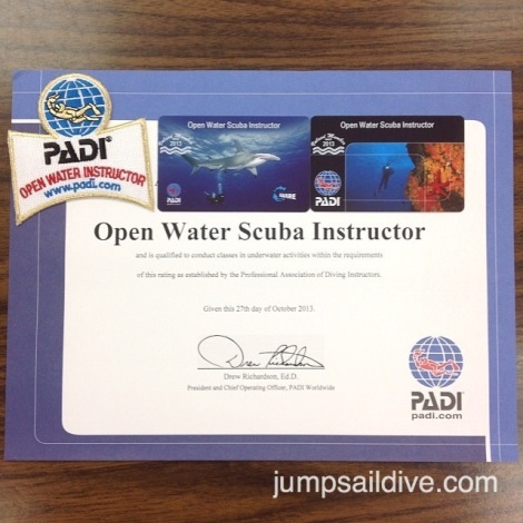 My OWSI certificate, cards and patch
