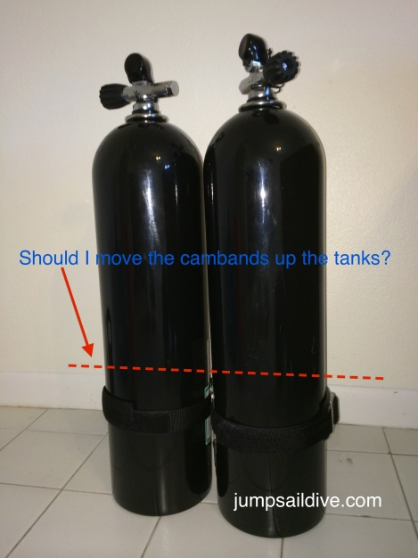 My cylinders with my cambands, should I move them up or leave them where they are?