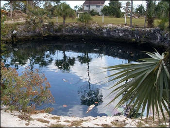 The Mermaid's Pool - located off of Carmichael Road.