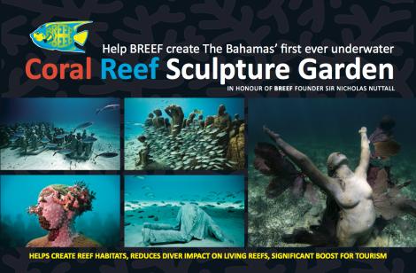 BREEF reef sculpture garden postcard PRINT