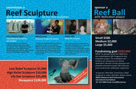 BREEF reef sculpture garden postcard PRINT2