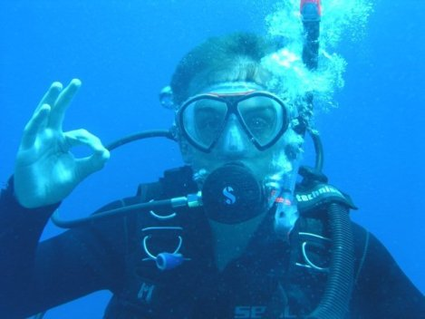 Me back when I was first learning to dive