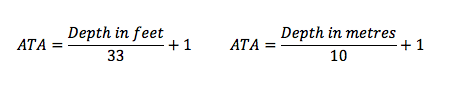 How to calculate ATA in feet or metres