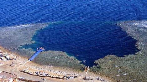 The blue hole at Dahab