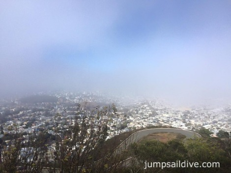 The view from Twin Peaks...can you see the city?